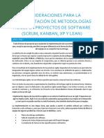 Consideraciones Para La Implementacion de Metodologias Agiles en Proyectos de Software_RoSo