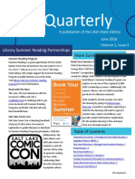 Utah State Library Quarterly Newsletter 2016 June