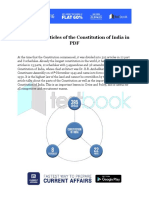 Important Articles of the Constitution of India in PDF