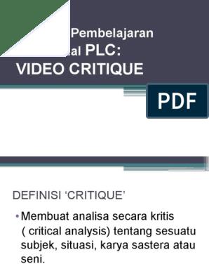 Power Point Video Kritik