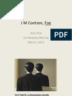 How to Read the Book-Foe b y Coetzee