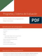 0 Presentaciónfasfasf Programa y Sistema de Evaluación