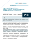 Marco Político Pedagógico en la Alfabetización Argentina (Módulo 1)