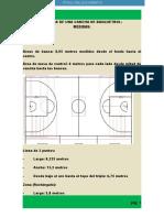 Medidas de Una Cancha de Basquetbol