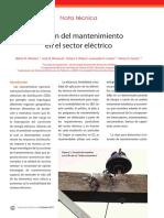 Gestión Del Mantenimiento en El Sector Eléctrico (Nota Técnica)