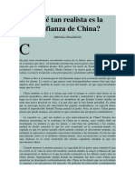 Qué Tan Realista Es La Confianza de China