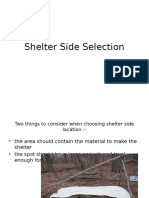 Shelter Side Selection