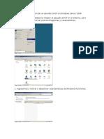 Pasos Para La Instalación de Un Servidor DHCP en Windows Server 2008