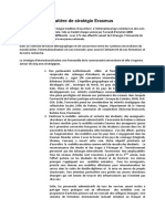 Declaration de Strategie Erasmus