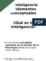 Clase 1 La Inteligencia, Fundamentos Conceptuales