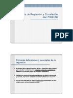 Análisis de Regresión y Correlación Con MINITAB