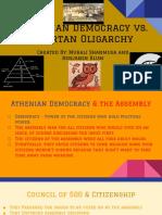 murali benjamin - athenian democracy vs  spartan oligarchy  1