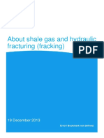 About Shale Gas and Hydraulic Fracturing Dec 2013