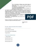 Cuestionario Claustro Conchita