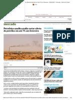 Petroleira Saudita Avalia Cortar Oferta de Petróleo Em Até 7% Em Fevereiro - 05-01-2017 - Mercado - Folha de S