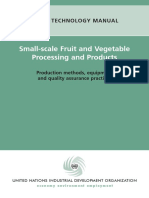 Small Scale Fruit and Vegetable Processing and Products