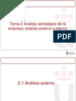 Tema 2 Análisis Estratégico de La Empresa Parte I