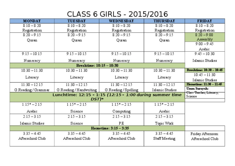 class 6g timetable 2015_2016 docx