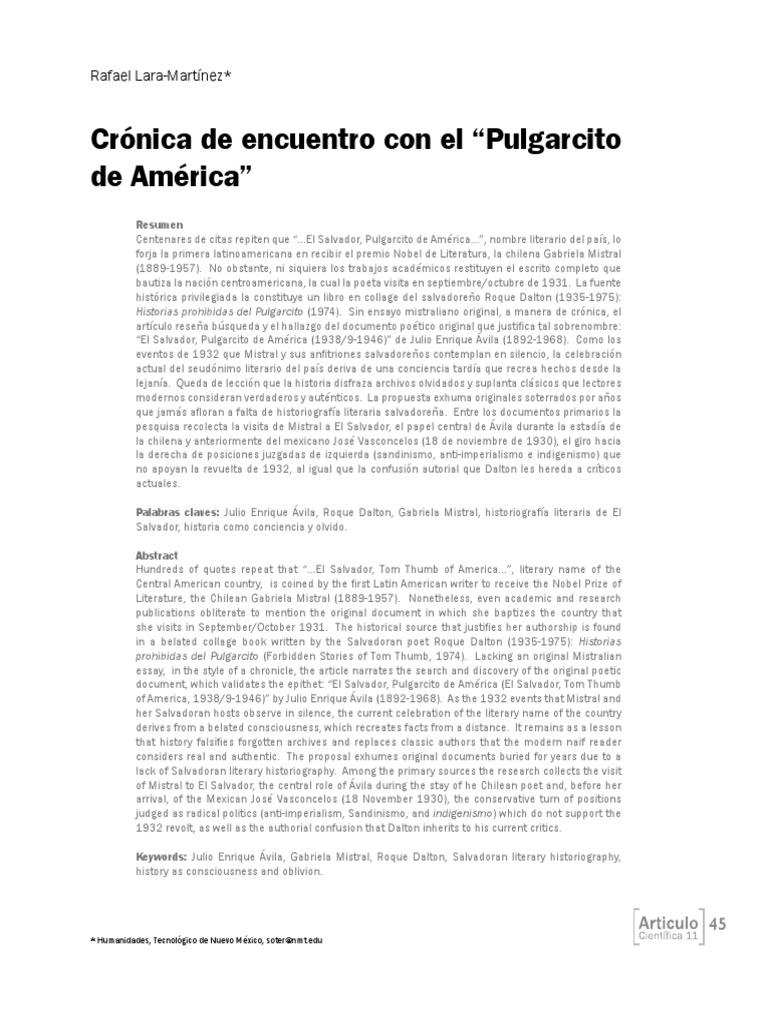 3. Cronica de Encuentro Con El Pulgarcito de America