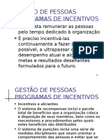 Gestão de Pessoas - Programas de Incentivos