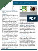 Process Development Nanostructured Pv