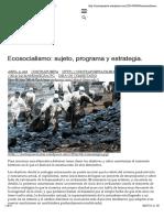 Ecosocialismo - sujeto, programa y estrategia.