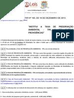 Lei Complementar 185 2013 de Bombinhas SC
