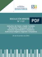 Resolución Ministerial 1107
