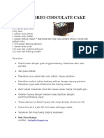 Steamed Oreo Chocolate Cake