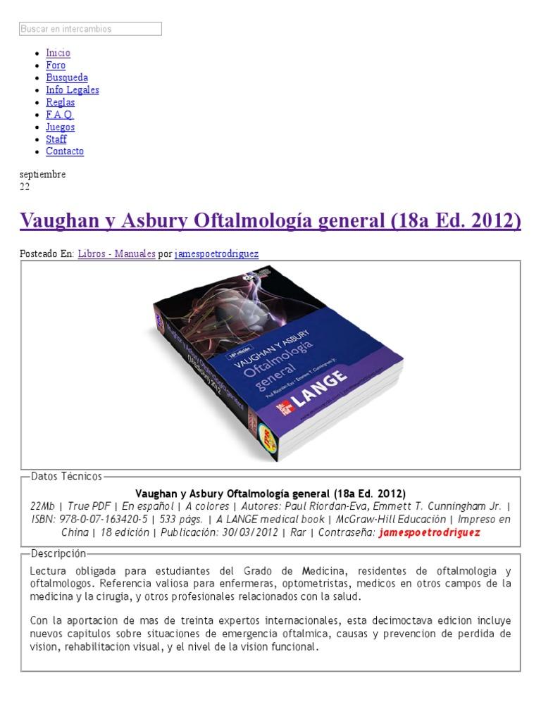 oftalmologia general de vaughan y asbury descargar pdf