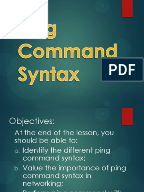 7 Ping Command Syntax   Network Architecture   Computer