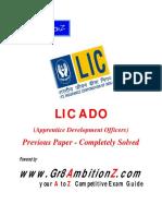 LIC ADO Previous Paper
