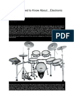 What You Need to Know About Electronic Drums