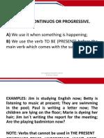 Aula 04 Present Continuous Progressive
