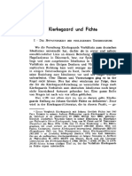 Kierkegaard Und Fichte (Schmidinger)