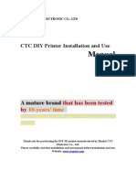 CTC DIY Printer Installation and Use Manual 1