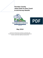 2016 PIT Count Report - Thurston County