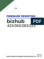 Firmware Rewriting Bizhub 223 283 363 423