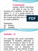 Syllablic Consonants