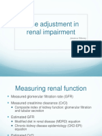 Dose Adjustment Renal Failure