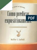 como predicar expositivamente - Walter L. Liefeld.pdf