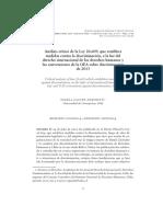 Análisis crítico de la Ley 20.609, que establece medidas contra la discriminación, a la luz del derecho internacional de los derechos humanos y las convenciones de la OEA sobre discriminación de 2013,  ximena gauché marchetti