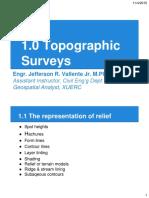 1.0 Topographic Surveys