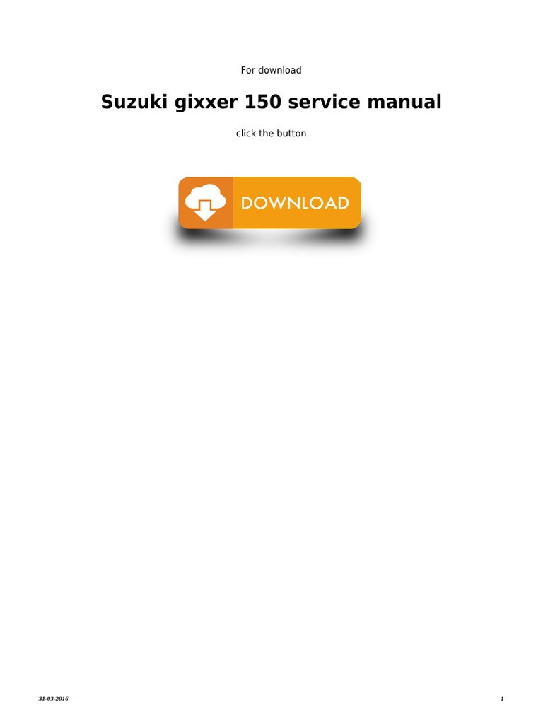suzuki gixxer sf 150 service manual pdf
