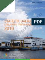 Statistik Daerah Kabupaten Tanah Bumbu 2016