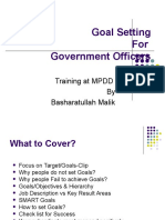 Goal Setting Govt Officers