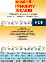 Domain 6 - Community Linkages