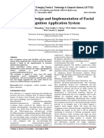 A Study on Design and Implementation of Facial Recognition Application System
