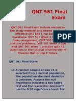 QNT 561 Final Exam 2016 | QNT 561 Final Exam | Uop E Tutors