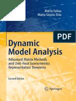 Dynamic Model Analysis - Advanced Matrix Methods and Unit-Root Econometrics Representation Theorems 2nd - Mario Faliva and Maria Grazia Zoia